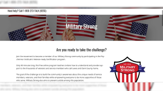 Military Strong campaign provides support to those affiliated with armed services