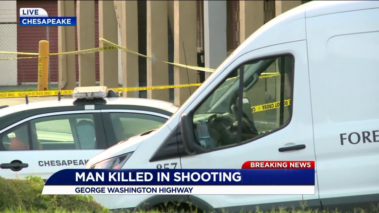 Homicide reported in Chesapeake parkinglot