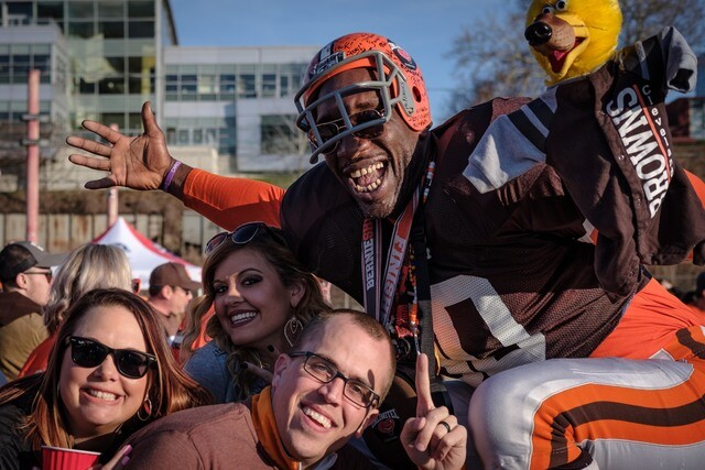 PHOTOS: Browns draft from the Muni Lot