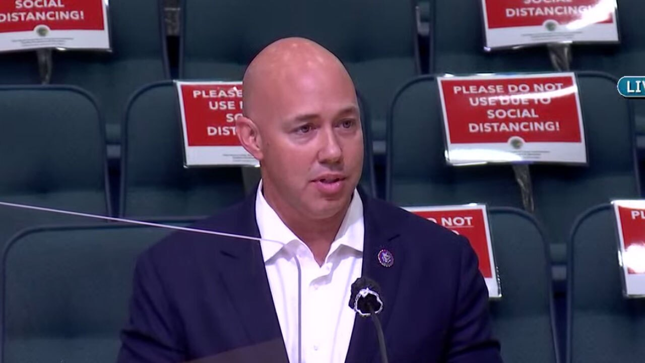 U.S. Rep. Brian Mast speaks about Palm Beach County meeting on July 27, 2021