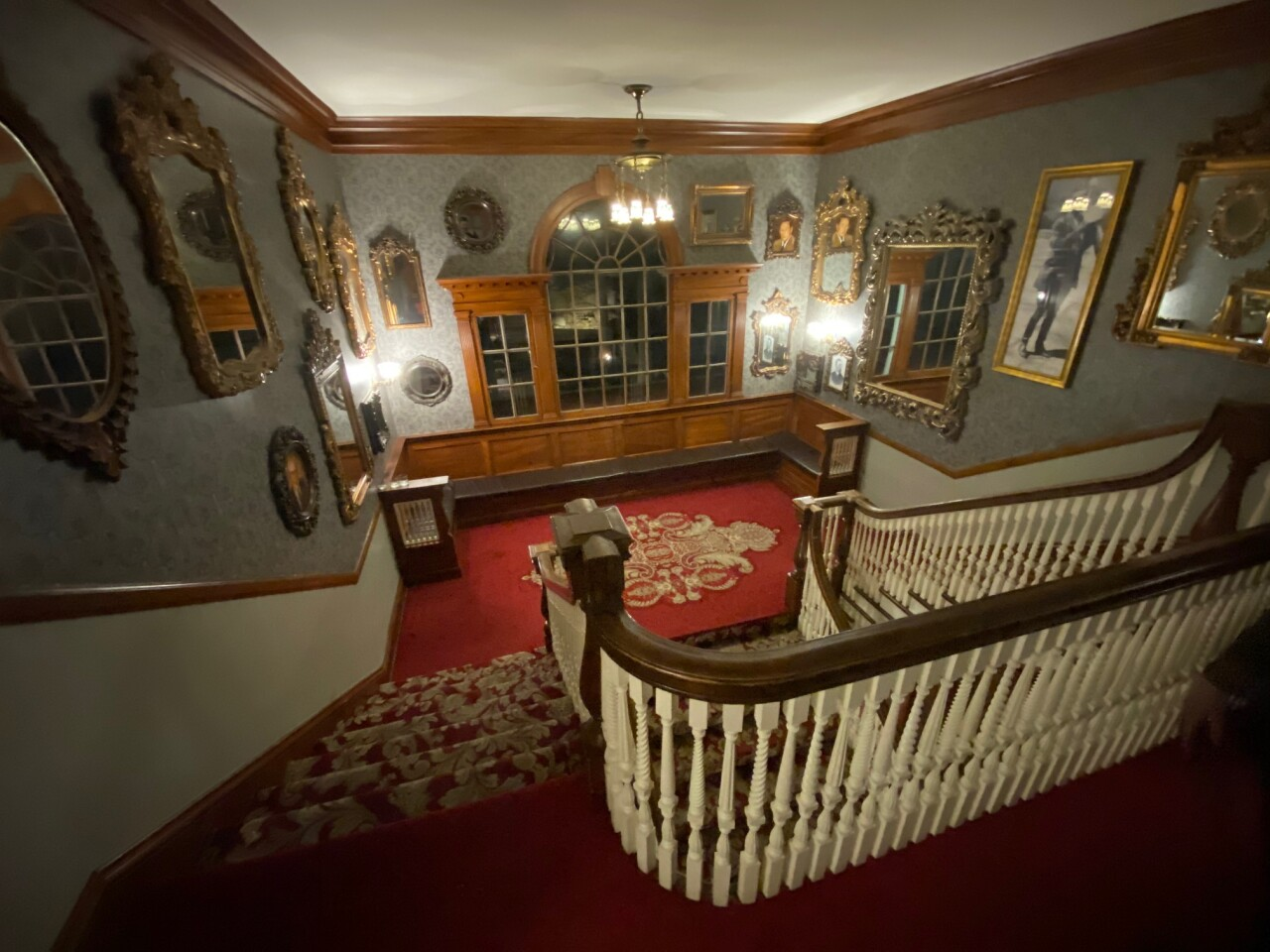 Staircase in lobby of Stanley Hotel
