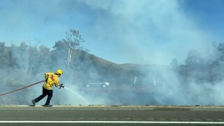 Brush fire off of Higuera Street near Highway 101
