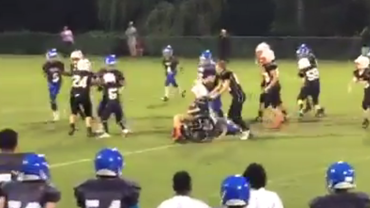 Yorktown 7th grader wheels his way to a touchdown