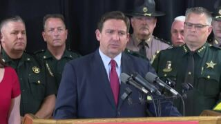 Gov. Ron DeSantis discusses immigration at Escambia County Sheriff's Office in Pensacola, June 16, 2021