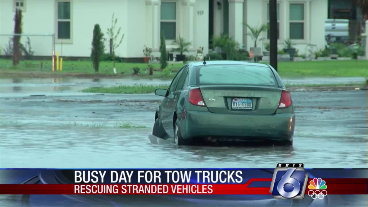 Busy day for local towing companies because of Wednesday's heavy rainfall