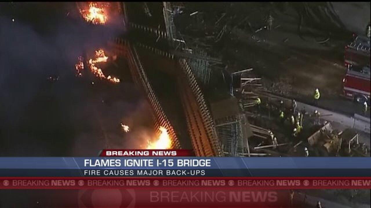 California fire shuts down busyinterstate