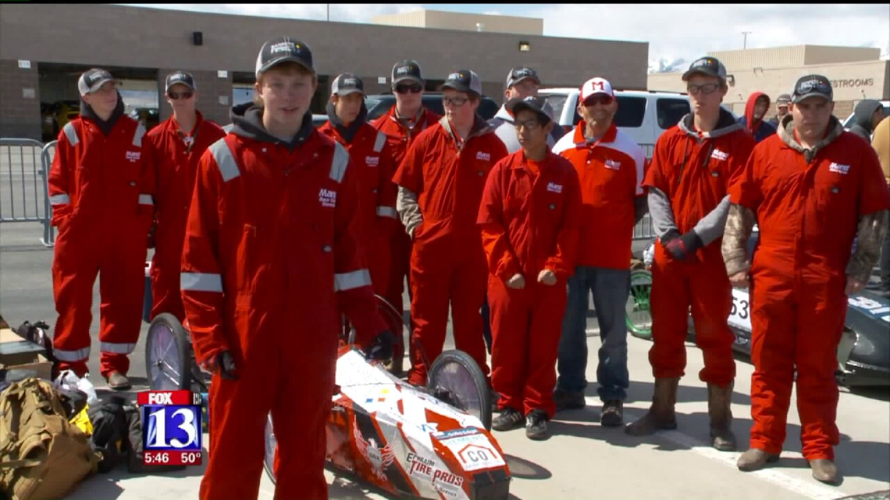 Utah students build and race electriccars