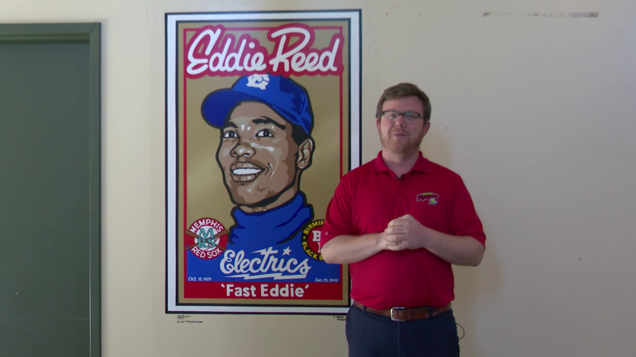 Mural of Great Falls baseball icon Eddie Reed unveiled at Centene Stadium