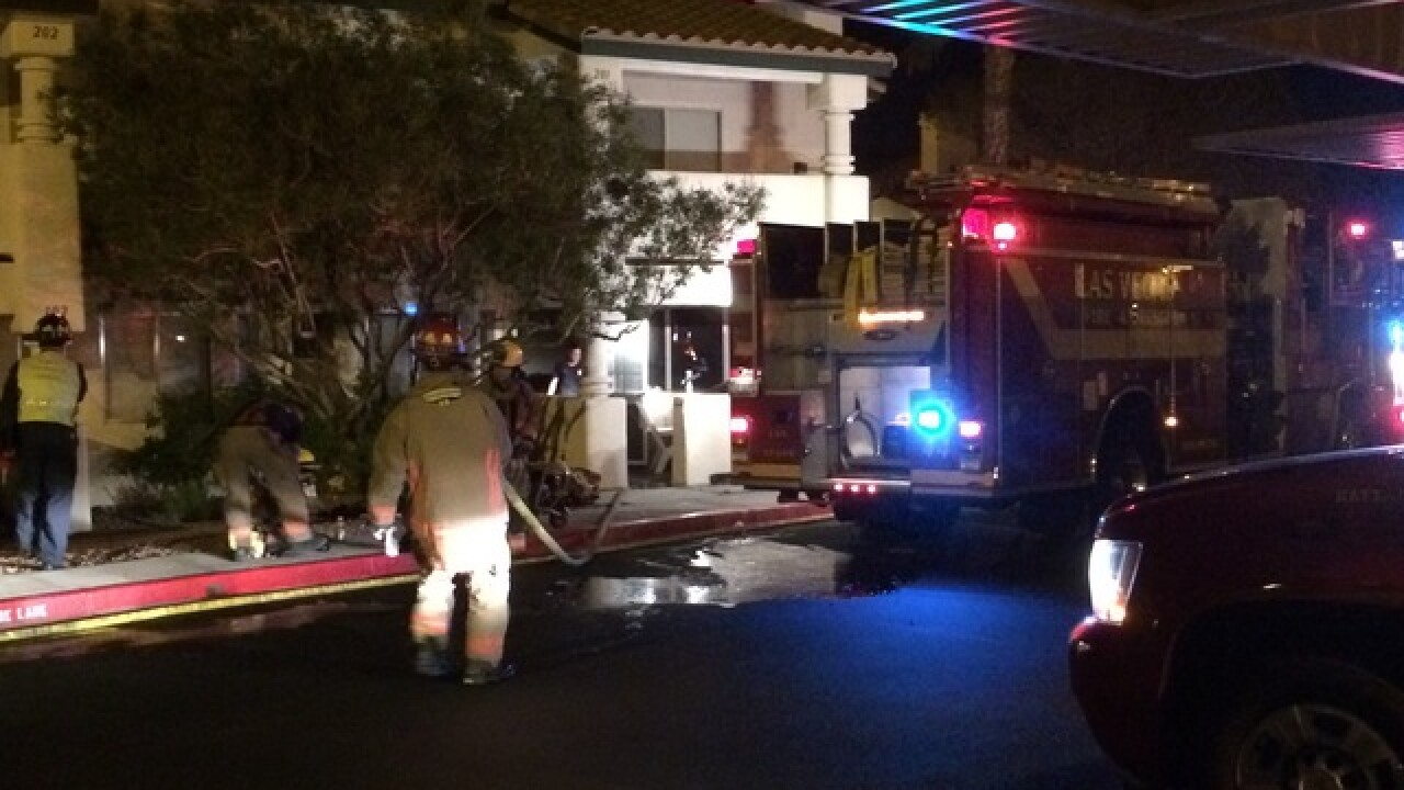 Firefighters rescue man from burning condo