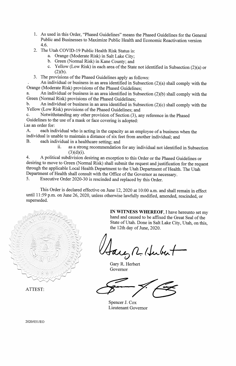 Governor Executive order Page 2