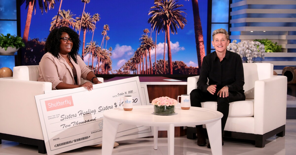 Ellen surprises Virginia woman whose mission is to 'empower, educate and elevate'