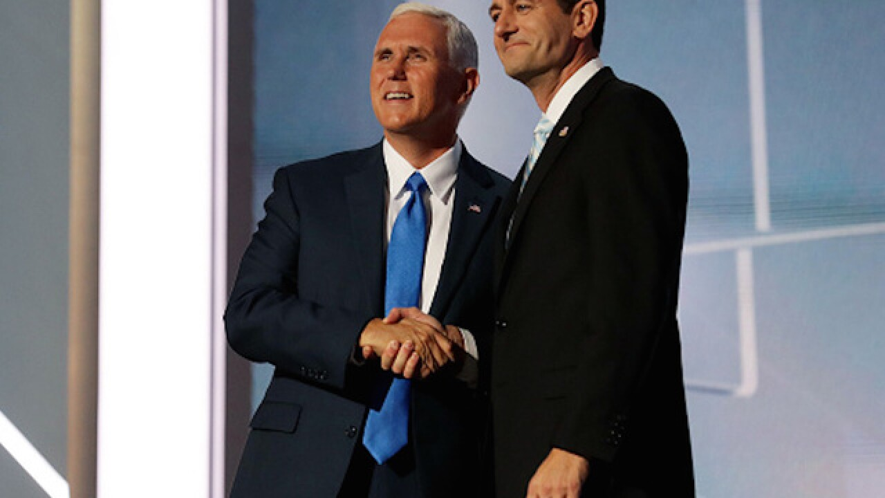 Mike Pence breaks with Donald Trump, endorses Paul Ryan