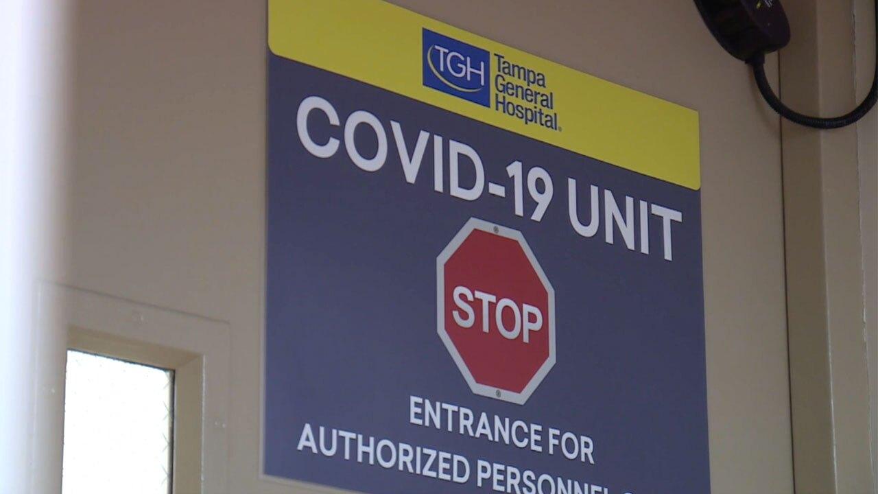 COVID-19 unit at Tampa General Hospital