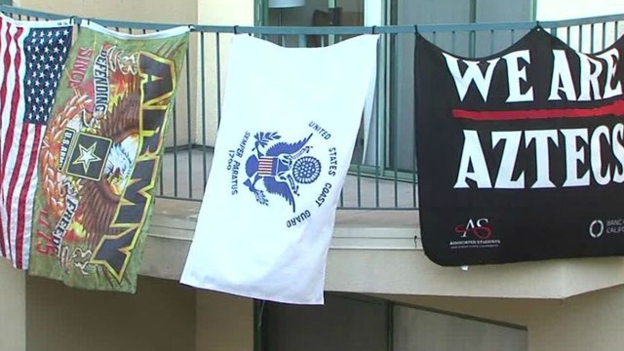 SDSU students facing expulsion for hanging flags