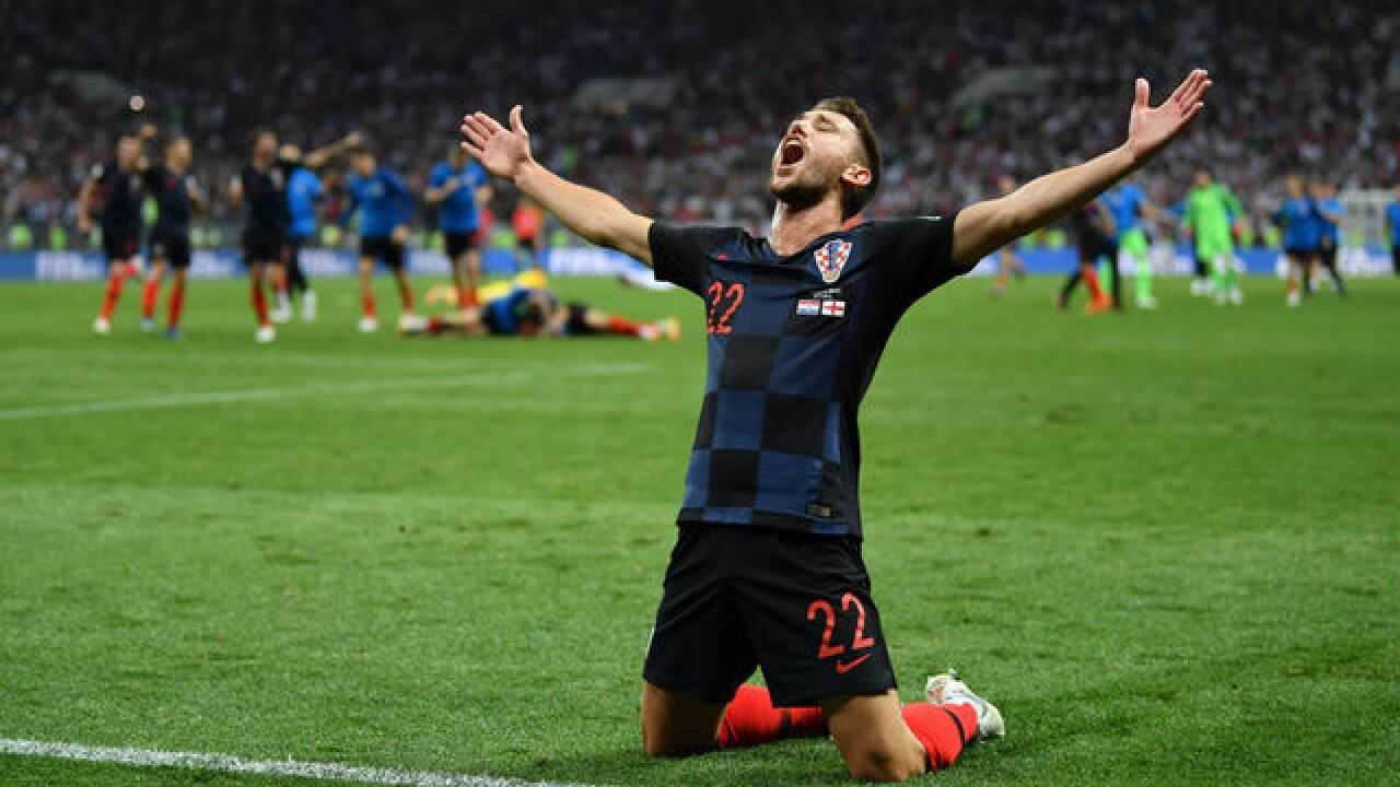 Croatia reaches World Cup for 1st time, beats England 2-1