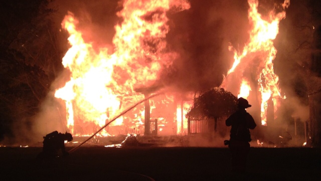 House for sale goes up in flames in Independence