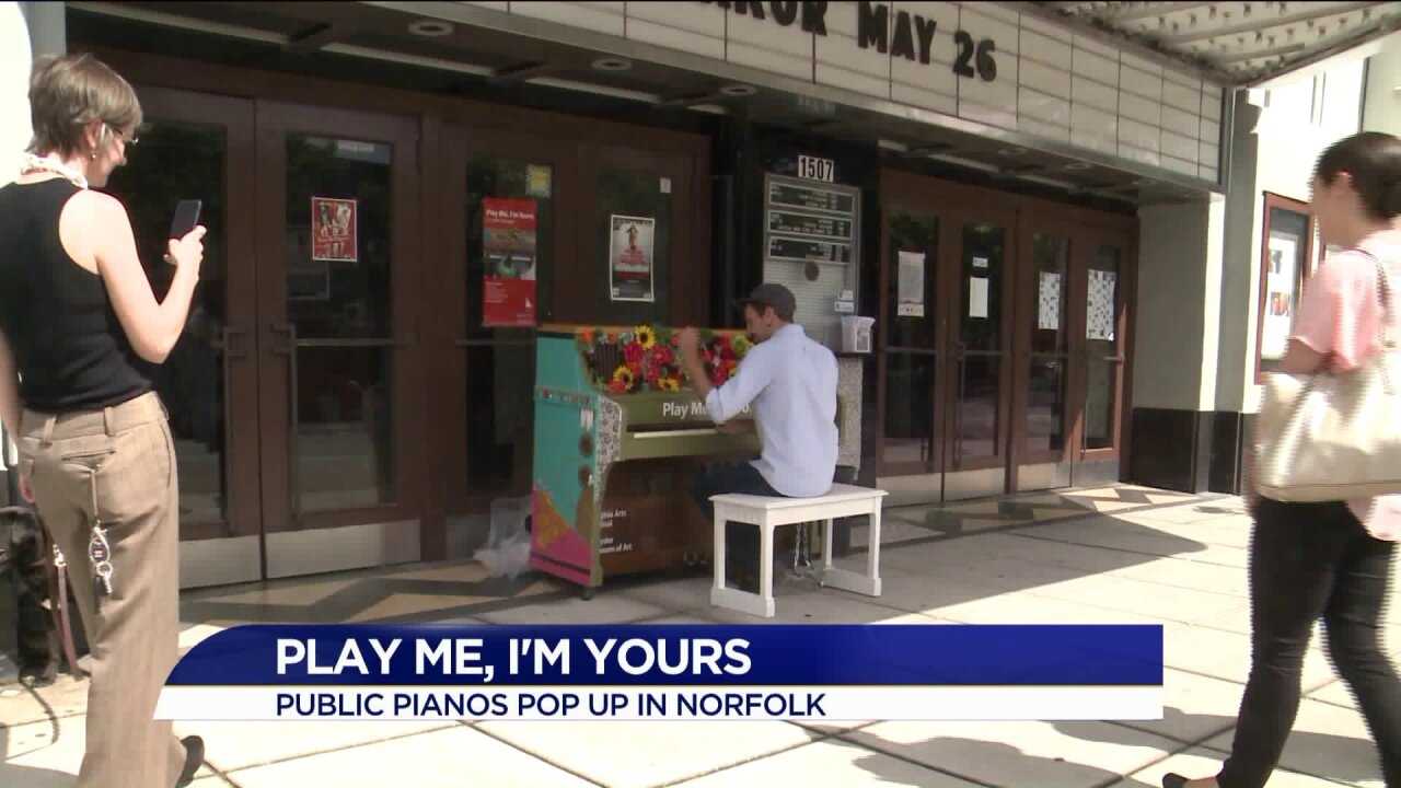 'Play Me, I'm Yours' pianos pop up in Norfolk