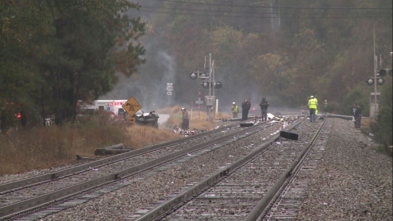 Pick-up truck driver killed trying to beat Amtrak train