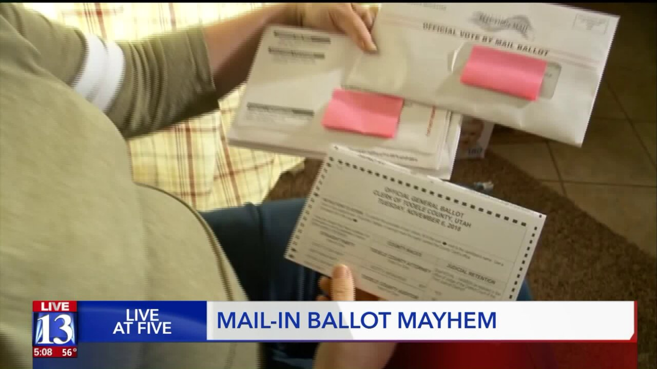 Some Tooele residents confused after receiving two election ballots in themail