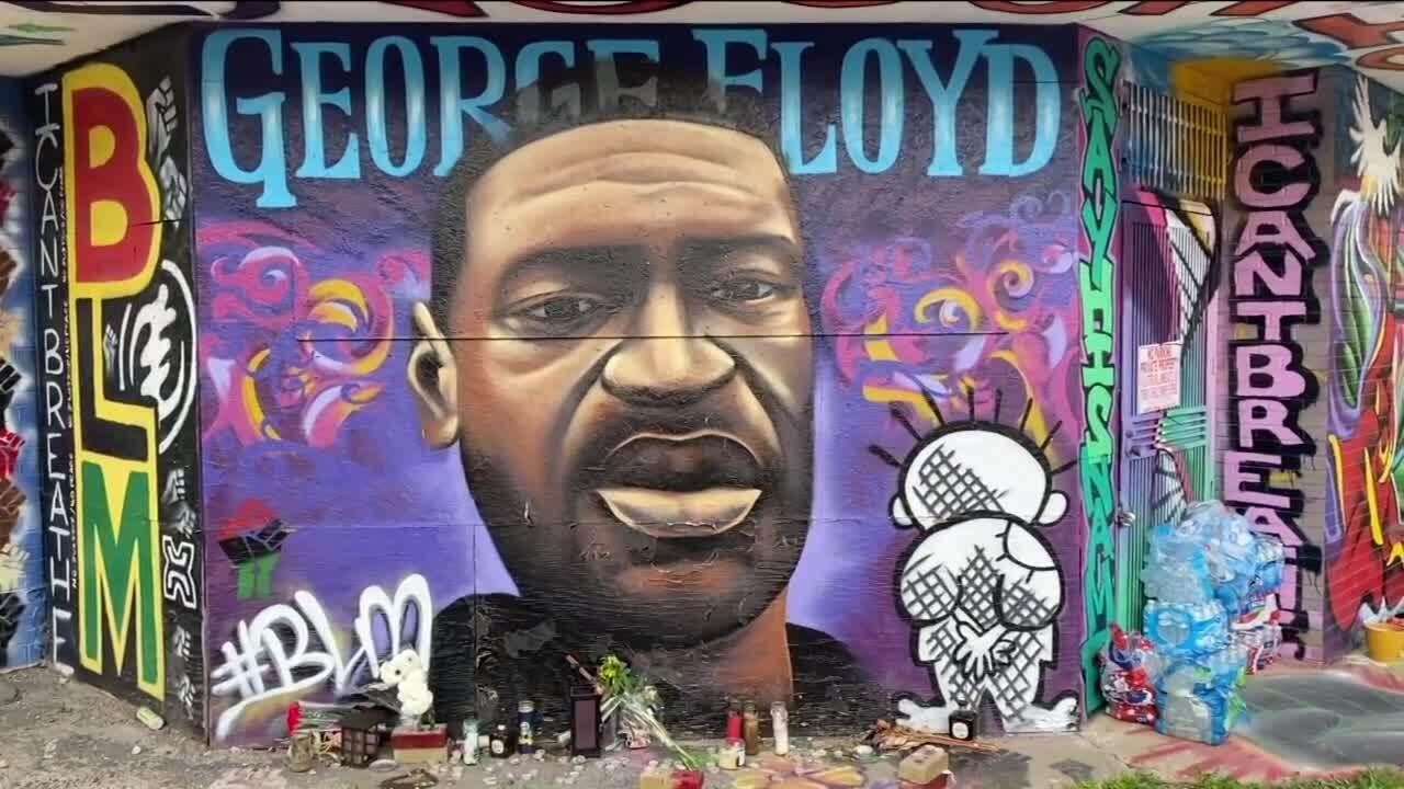 george floyd milwaukee mural