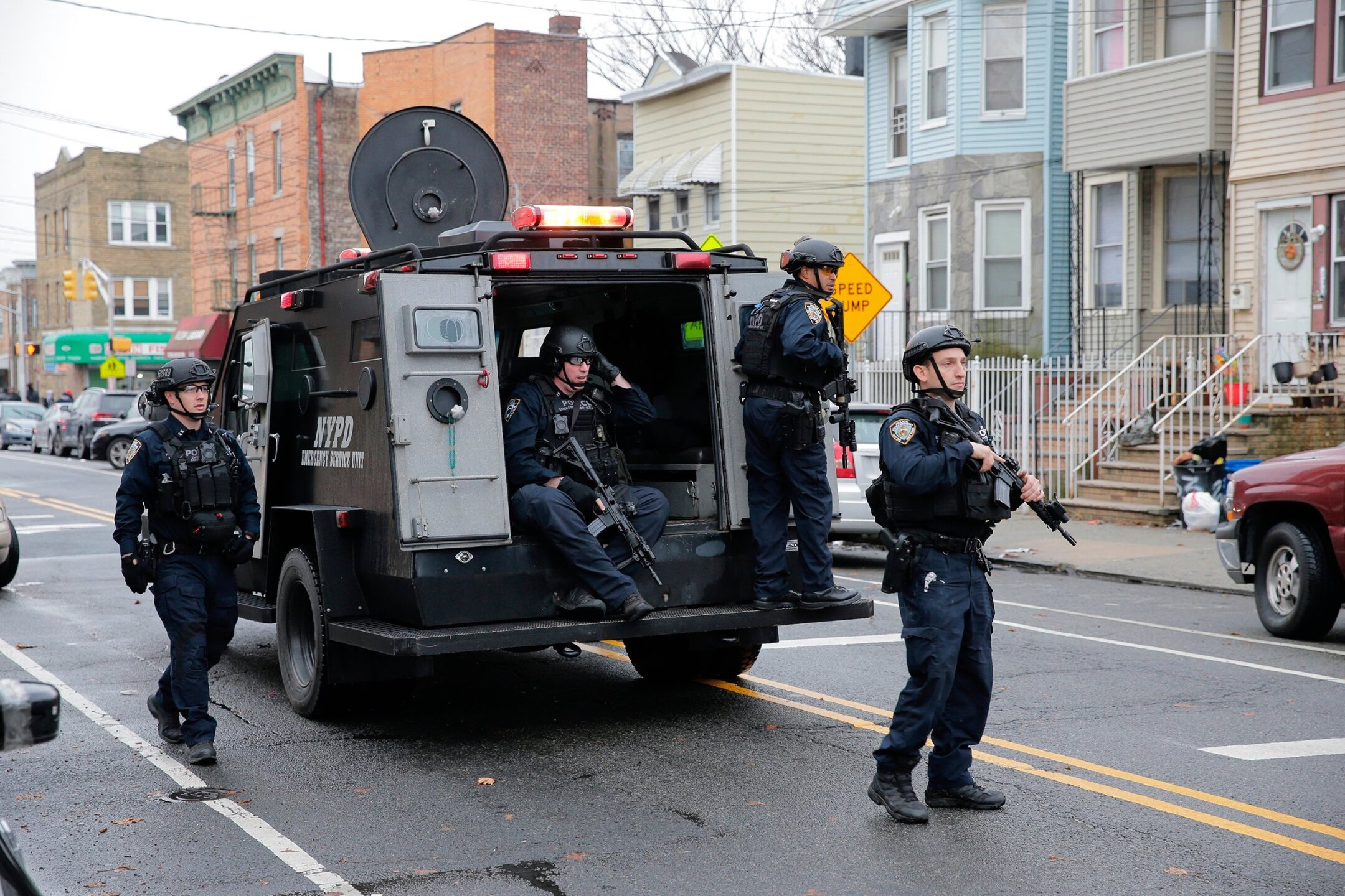 Photos: Jersey City shooters left pipe bomb in stolen U-Haul, attorney general says