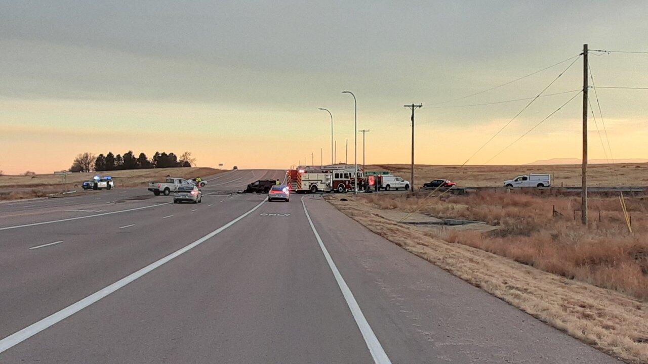 Fatal crash at Marksheffel and Space Village Rd