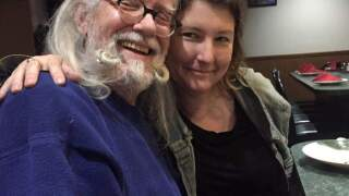 Julie Lane and her father