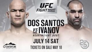 Dos Santos vs. Ivanov to headline UFC Fight Night 133