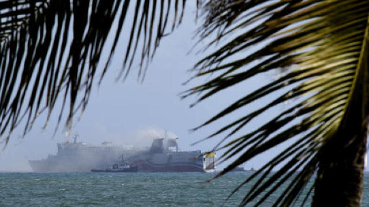500 evacuated from cruise ship blaze