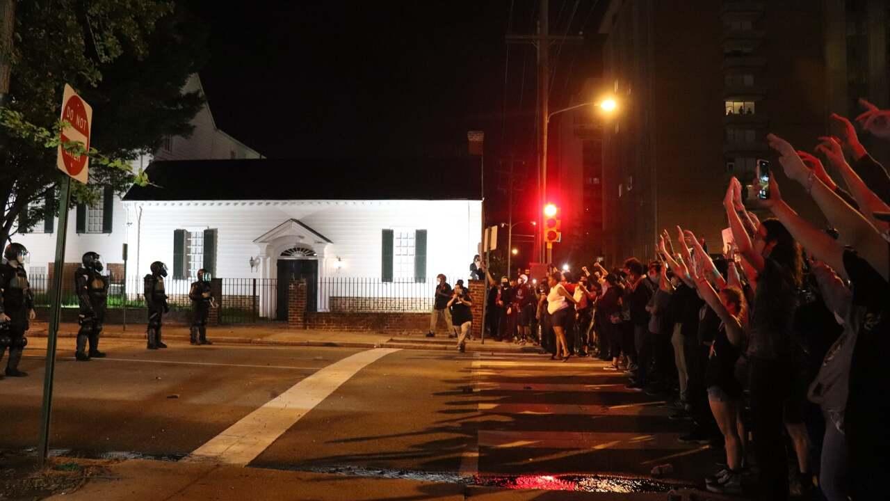 Richmond riots Friday, March 29, 2020.