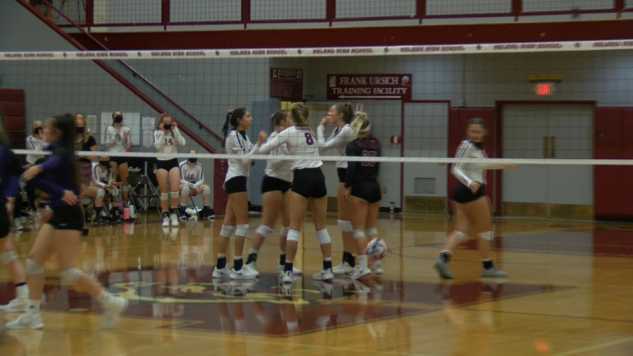 Helena High volleyball knocks off Butte in straight sets