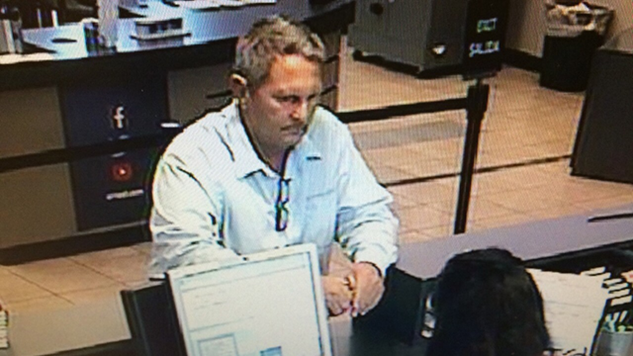 Police search for man who allegedly robbed an Arvest Bank in east