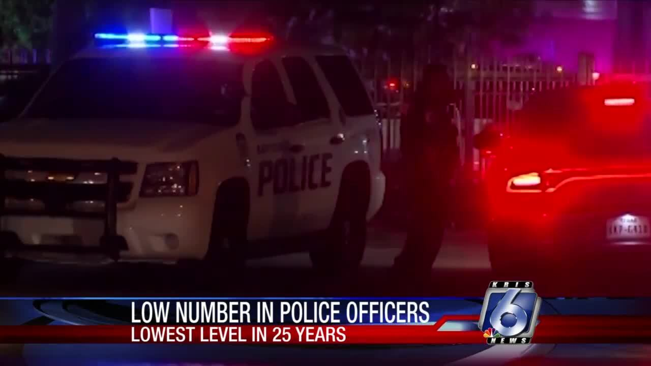 Number of American police officers shrinking