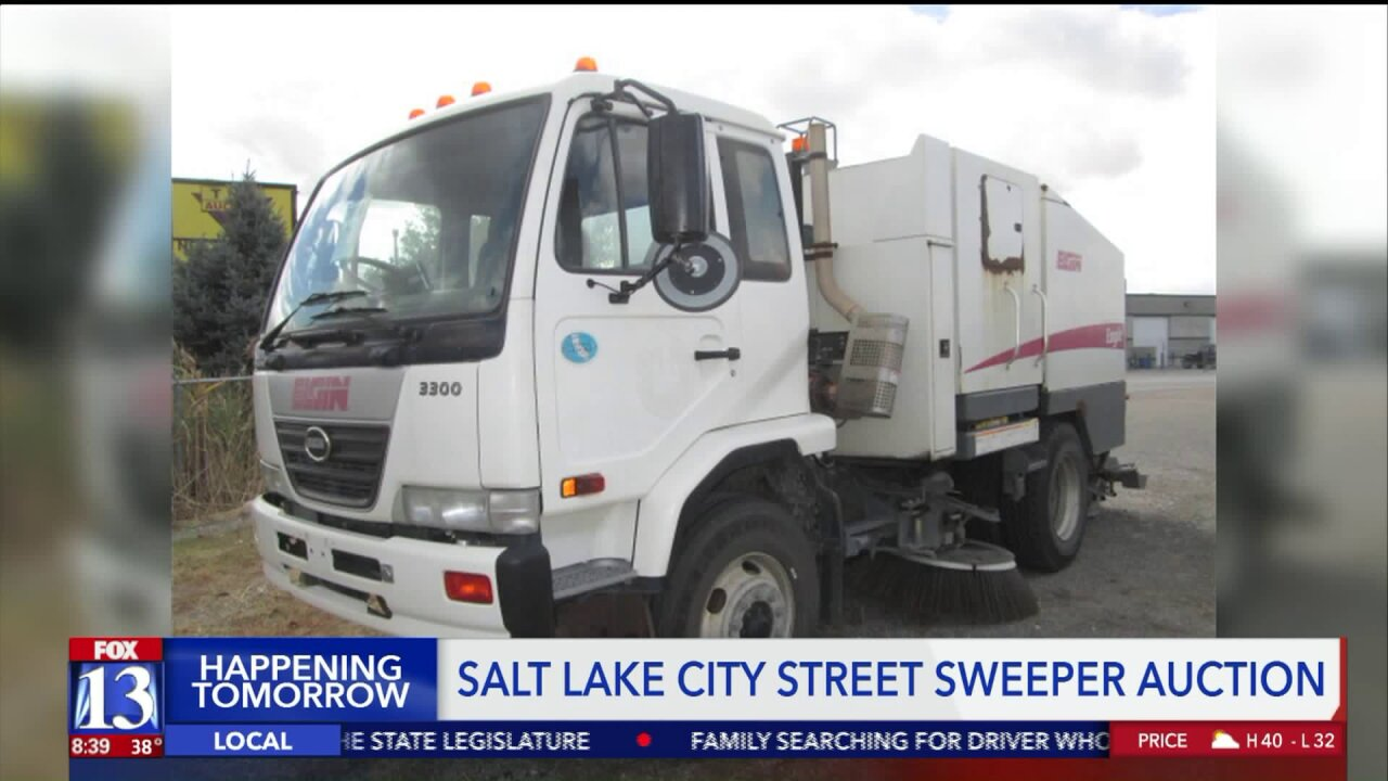 Used street sweeper, parking enforcement Jeep and dozens of others to be auctioned