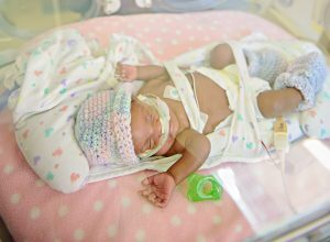 Baby Aubrey in the ICU