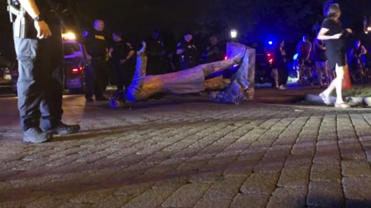 Confederate Monuments Toppled