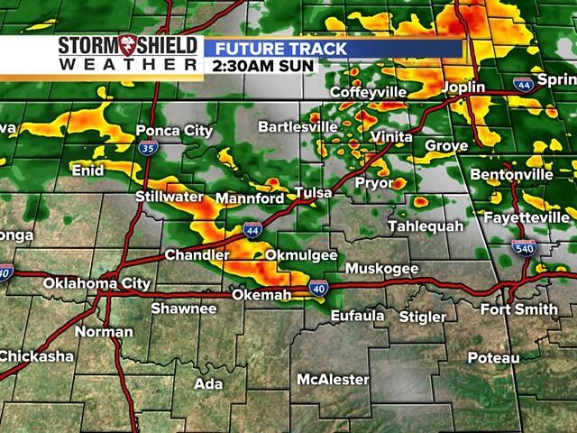 TIMELINE: January thunderstorms set to move through Oklahoma Sunday morning