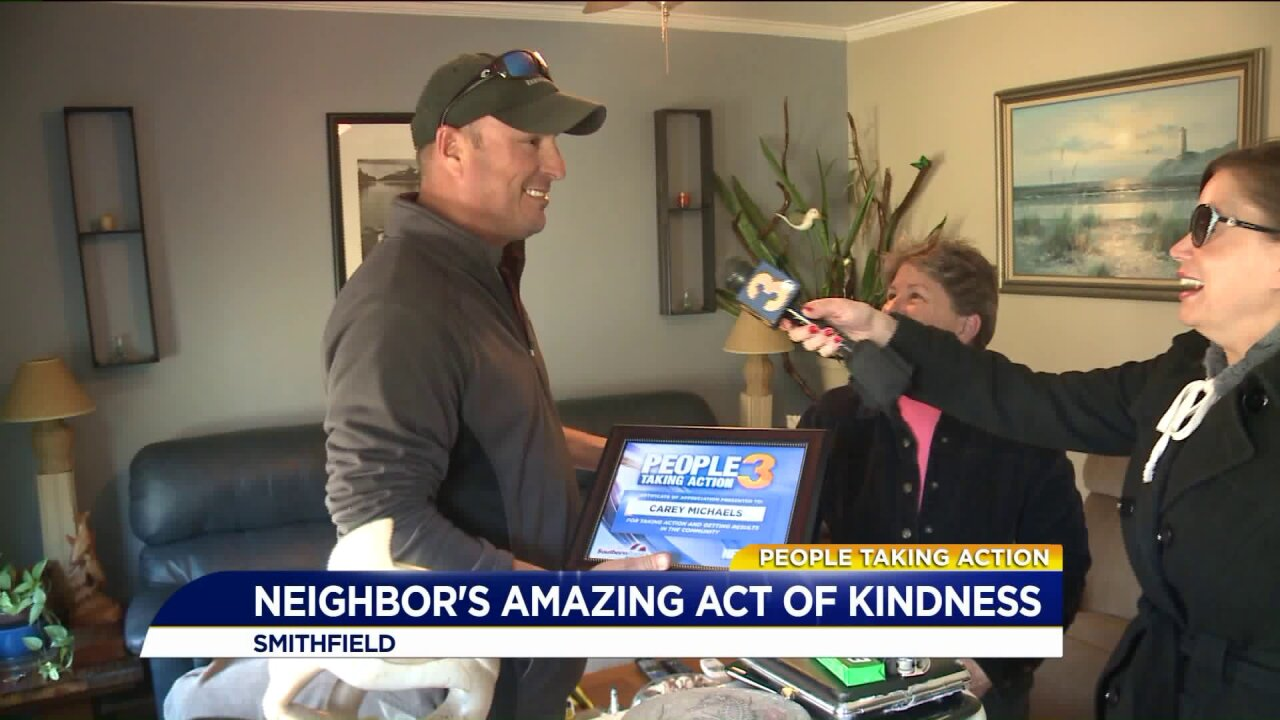 People Taking Action: Smithfield resident comes to the rescue after his neighbor loses her beloved pup