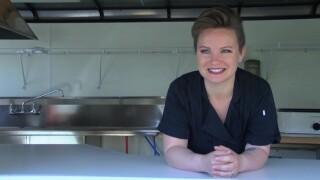 """Lyndsay Gutierrez of Great Falls in her """"Nourish"""" food truck"""