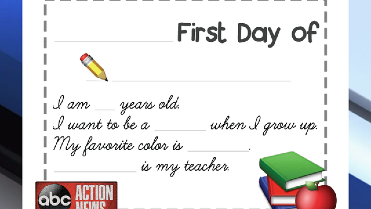Back-to-School: First Day Printable