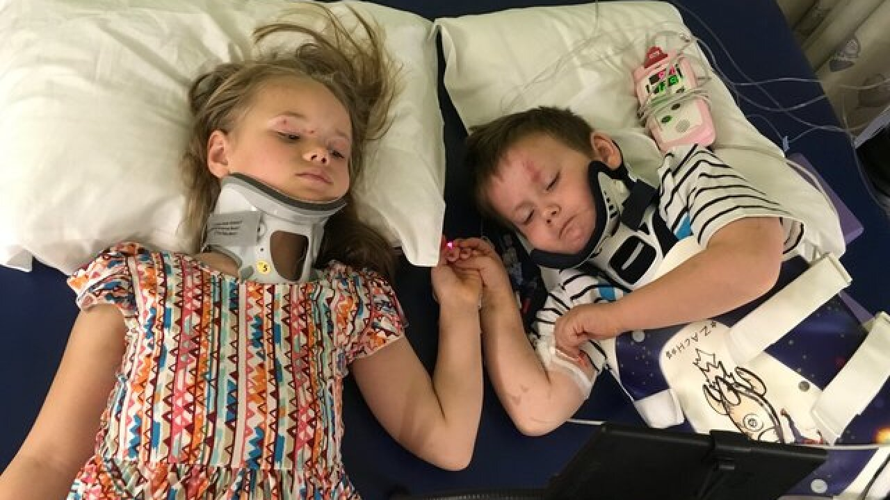 Siblings on road to recovery after fatal crash