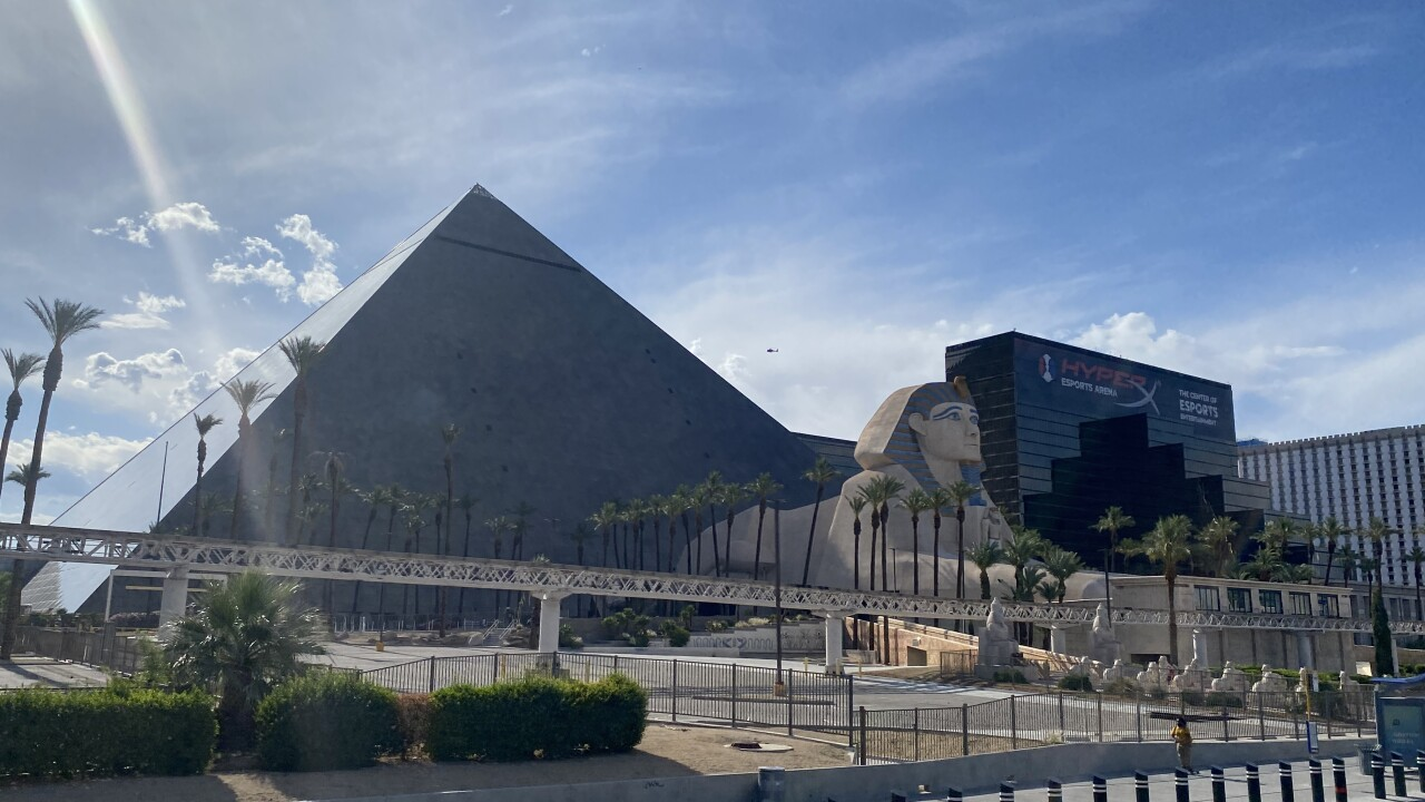The Luxor is an iconic property located on the Las Vegas Strip as seen in this image taken in May 2021.