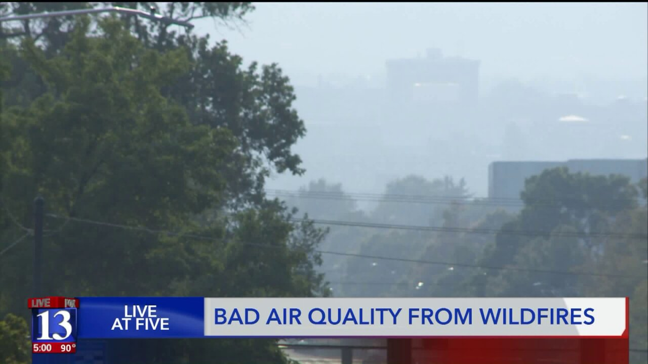 Orange air quality forecast for parts of Utah amid smoke fromwildfires