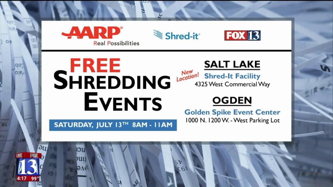 AARP Utah hosting free paperwork shreddingevent