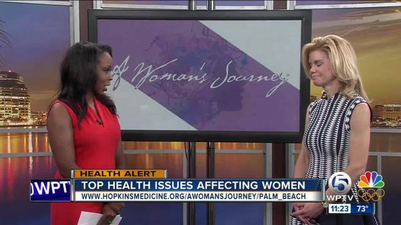 What are the top health issues affecting women?