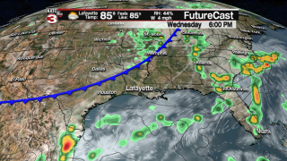 Another cool front brings more dry air on Thursday
