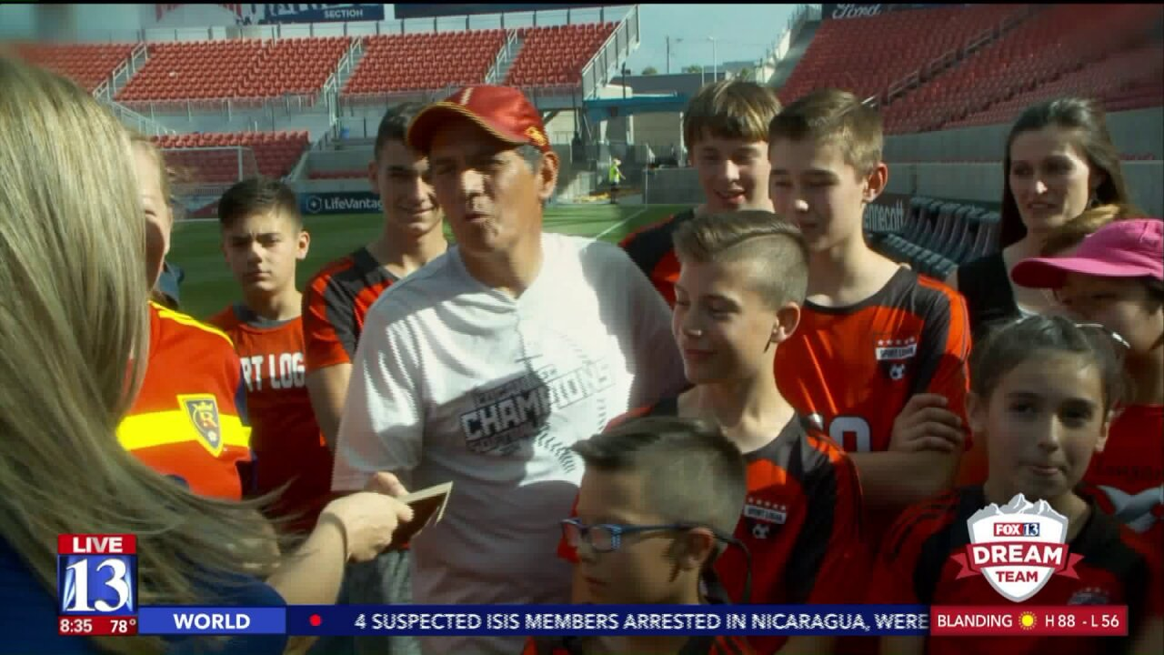 Logan soccer coach who gives generously to kids gets surprised at Rio TintoStadium