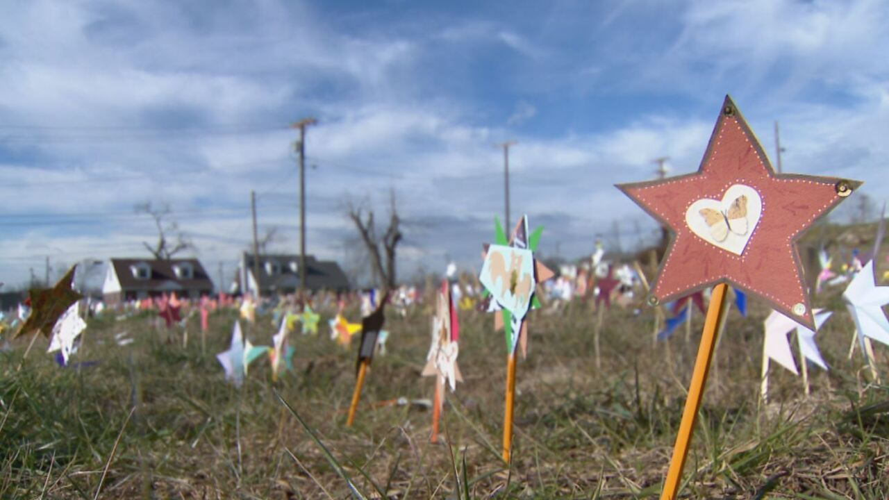 Temporary memorial for Tennessee COVID-19 victims