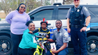 5-year-old boy hit by car in Bainbridge gets new bike from BPS