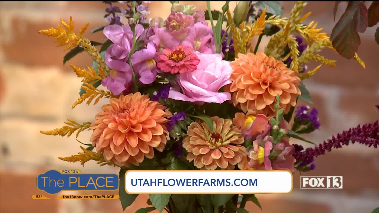 Which Utah flowers are available in Fall, and how to make a local arrangment!